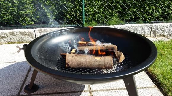 BBQ 80cm deluxe als Feuerschale
